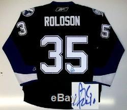 Dwayne Roloson Signed Tampa Bay Lightning Home Jersey
