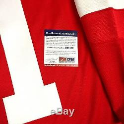 Dylan Larkin Signed Detroit Red Wings Home Jersey Psa/dna Rookie Graph Coa