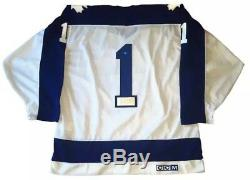 EXTREMELY RARE Jacques Plante SIGNED Toronto Maple Leafs Vintage CCM Jersey