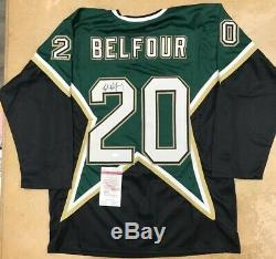 Ed Belfour Autographed Signed Jersey JSA Certified Authentic Dallas Stars
