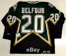 Ed Belfour Signed Dallas Stars 1999 Stanley Cup Pro Player Jersey Psa Itp Coa
