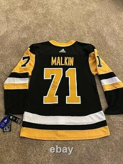 Evgeni Malkin Pittsburgh Penguins Autographed Adidas© Authentic Hockey Jersey