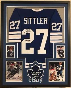 Framed Darryl Sittler Autographed Signed Insc Toronto Maple Leafs Jersey Jsa Coa
