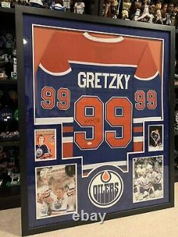 Framed Edmonton Oilers Wayne Gretzky Autographed Signed CCM Jersey Jsa Letter