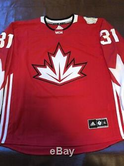 Frameworth Carey Price Autographed Signed Jersey with COA Canada 2016 World Cup