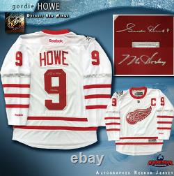 GORDIE HOWE Signed Detroit Red Wings Centenial Classic Reebok Jersey WithMr. Hockey