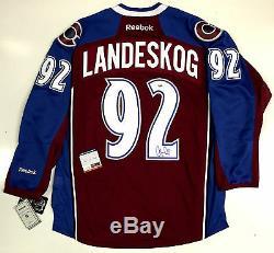 Gabriel Landeskog Signed Colorado Avalanche 2015 Reebok Home Jersey Psa/dna Coa