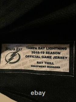 Game used Tampa Bay Lightning Brayden Point Signed Jersey Shirts off our backs