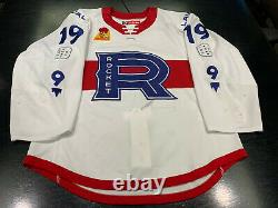 Game-worn, autographed Jordan Weal Laval Rocket Jersey