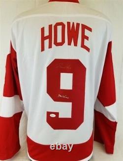 Gordie Howe Mr Hockey Signed Detroit Red Wings Custom Jersey (JSA COA)