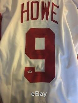 Gordie Howe RARE PSA Autographed/Signed Red Wings Jersey inscribed twice