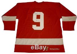 Gordie Howe Signed Detroit Red Wings Vintage Red Jersey with COA