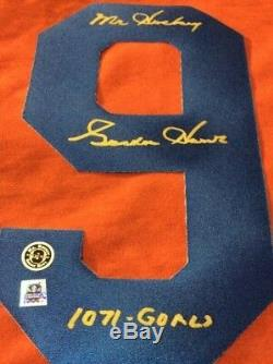 Gordie Howe Signed Jersey Number 9 Houston Aeros Coa / Hologram