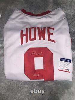Gordie howe autographed jersey PSA Certified