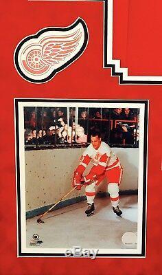 Gordon Gordie Howie Mr. Hockey, #9, Hof1972, Signed Framed Jersey Jsa/coa