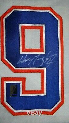 Gretzky Edmonton Oilers Captain Signed RARE White CCM VINTAGE Hockey Jersey