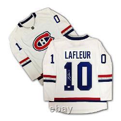 Guy Lafleur Autographed White Montreal Canadiens Jersey