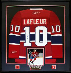 Guy Lafleur Montreal Canadiens Signed jersey NHL Hockey Collector Frame