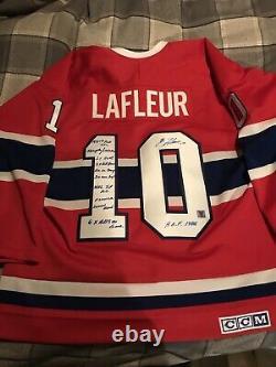 Guy Lafleur Signed Jersey