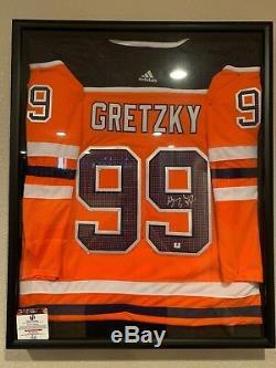 Hand Signed Wayne Gretzky Edmonton Oilers Autod Authentic Adidas Jersey COA