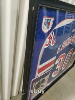 Henrik Lundqvist Signed Autographed New York Rangers Framed Jersey withSteiner COA