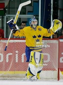 Henrik Lundqvist Signed Team Sweden 2006 Olympic Gold Authentic Jersey Rangers
