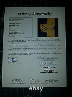 Henrik Lundqvist (Team Sweden) Signed Jersey Size XL in Person. JSA Full Letter