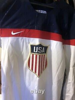 Hilary Knight Signed Nike USA 2014 Olympic Autographed Hockey Jersey M COA NWHL