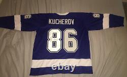 Hockey NHL Tampa Bay Lightning Nikita Kucherov Jersey Autograph Auto Authentic
