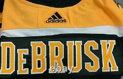 JAKE DEBRUSK Boston Bruins Signed Adidas Jersey COA Authentic