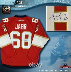 JAROMIR JAGR Signed Florida Panthers Red Reebok Jersey