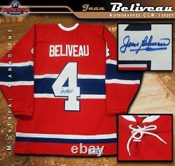 JEAN BELIVEAU Signed Montreal Canadiens Red Vintage CCM Jersey