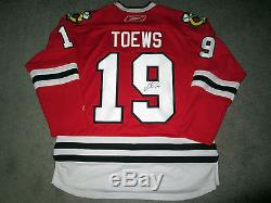 JONATHAN TOEWS Chicago Blackhawks SIGNED Autographed JERSEY COA Stanley Cup 2015