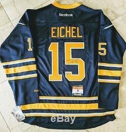 Jack Eichel Auto Autographed Home Buffalo Sabres Jersey COA Reebok XL