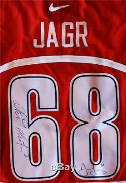 Jaromir Jagr Dominik Hasek Signed NIke 1998 Czech Republic Jersey Olympic Gold
