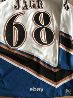 Jaromir Jagr Signed Washington Capitals jersey Mens Ccm Size 52 Pro Jersey New