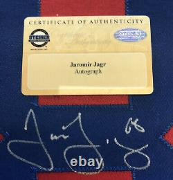 Jaromir Jagr Signed With Steiner COA New York Rangers On Ice Game Jersey