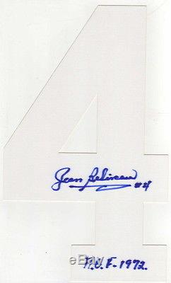 Jean Beliveau Signed Autographed Montreal Canadiens Jersey Number #4 With Proof