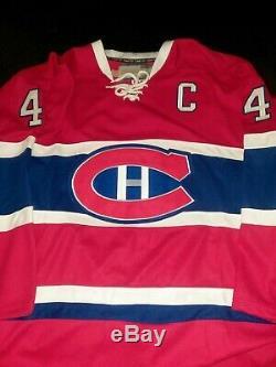 Jean Beliveau Signed Montreal Canadiens Jersey HOF 1972 SIZE 50