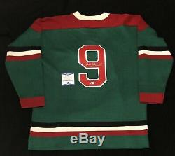 Jean Beliveau Signed Quebec Aces Heritage Sweater Jersey Beckett COA Canadiens
