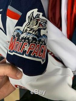 Jesper Fast Signed Game Used Hartford Wolfpack Jersey Steiner COA & LOA