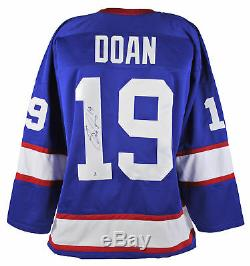 Jets Shane Doan Authentic Signed Blue Jersey Autographed BAS