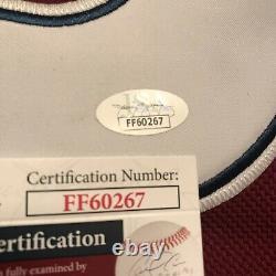 Joe Sakic Colorado Avalanche Signed/ Autographed Red Home Jersey Jsa Coa Nice