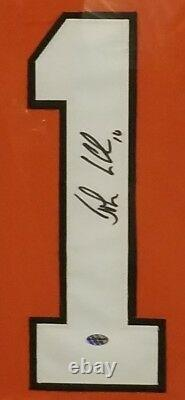 John Leclair Philadelphia Flyers Autographed Framed Jersey. Coa