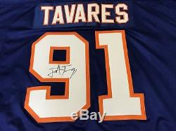 John Tavares Autographed Reebok 91 Captain Jersey XL NY Islanders/Maple Leafs