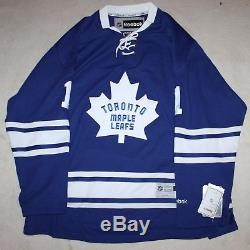 Johnny Bower signed autograph Toronto Maple Leafs reebok jersey