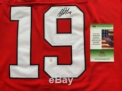 Jonathan Toews Signed Auto Chicago Blackhawks Stanley Cup Final 2016 Jersey 50