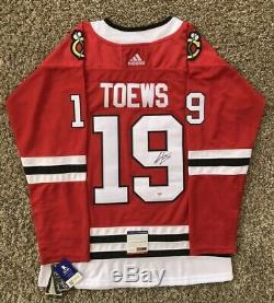 Jonathan Toews Signed Chicago Blackhawks Jersey PSA/DNA COA #19 NHL All Star