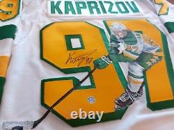 Kirill KAPRIZOV Signed Minnesota Wild Reverse Retro HAND PAINTED 1/1 Pro Jersey