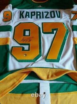 Kirill KAPRIZOV Signed Minnesota Wild Reverse Retro Pro Adidas Jersey RARE